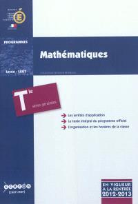 Mathématiques : classe terminale des séries générales ES, L, S : programme en vigueur à la rentrée de l'année scolaire 2012-2013