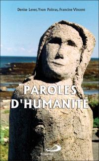 Paroles d'humanité
