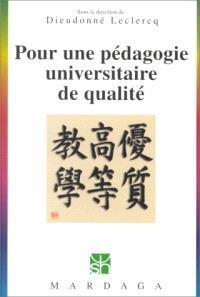 Pour une pédagogie universitaire de qualité
