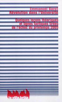 Révolution dans l'université : quelques leçons théoriques et lignes tactiques tirées de l'échec du printemps 2009