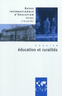 Revue internationale d'éducation. n° 59, Education et ruralités