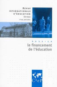Revue internationale d'éducation. n° 65, Le financement de l'éducation