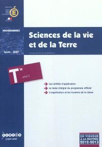 Sciences de la vie et de la Terre : classe terminale de la série S : programme en vigueur à la rentrée de l'année scolaire 2012-2013