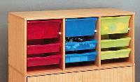 Surmeuble à bacs multicolores