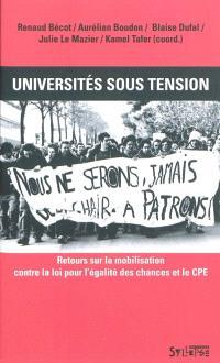 Universités sous tension : retours sur la mobilisation contre la loi pour l'égalité des chances et le CPE