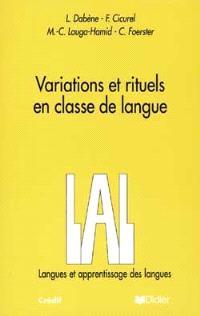 Variations et rituels en classe de langue
