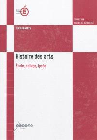 Histoire des arts : école primaire, collège, lycée