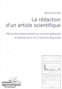 La rédaction d'un article scientifique : petit guide pratique adapté aux sciences appliquées et sciences de la vie à l'heure du libre accès