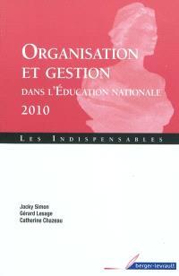 Organisation et gestion de l'Education nationale