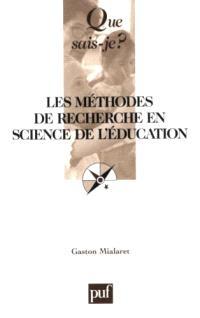 Méthodes de recherche en sciences de l'éducation