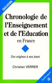 Chronologie de l'éducation et de l'enseignement en France : des origines à nos jours
