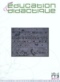 Education & didactique. n° 4-3 (2010)