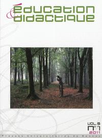 Education & didactique. n° 5-1 (2011)