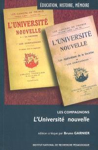 Les Compagnons, L'université nouvelle