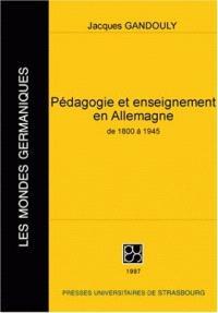 Pédagogie et enseignement en Allemagne de 1800 à 1945