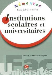 Institutions scolaires et universitaires