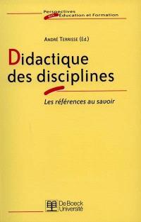 Didactiques des disciplines : les références au savoir