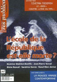 Res publica. n° 34, L'école de la République est-elle morte ?