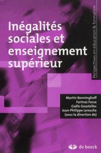 Inégalités sociales et enseignement supérieur