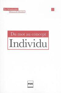 Individu : du mot au concept