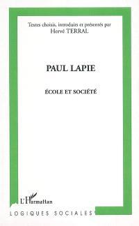 Paul Lapie, école et société