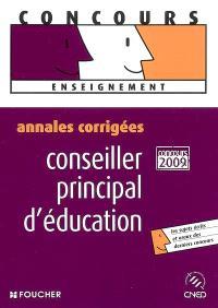 Conseiller principal d'éducation, concours interne et externe : annales corrigées
