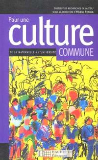 Pour une culture commune