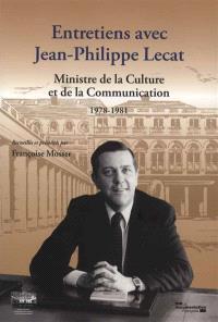 Entretiens avec Jean-Philippe Lecat, ministre de la Culture et de la Communication, 1978-1981