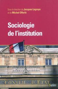 Sociologie de l'institution