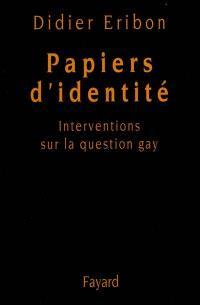 Papiers d'identité : interventions sur la question gay