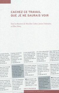 Cachez ce travail que je ne saurais voir : ethnographies du travail du sexe