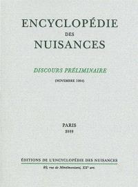Encyclopédie des nuisances : discours préliminaire (novembre 1984)