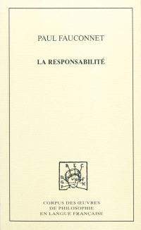 La responsabilité : étude de sociologie