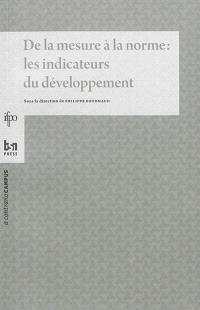 De la mesure à la norme : les indicateurs du développement