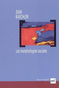 Les morphologies sociales