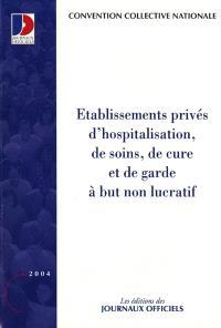 Etablissements privés d'hospitalisation, de soins, de cure et de garde à but non lucratif du 31 octobre 1951