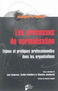 Les processus de normalisation : enjeux et pratiques professionnelles dans les organisations