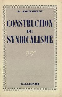 Construction du syndicalisme