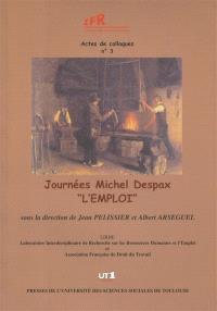 Journées Michel Despax, 19 novembre 2004 : l'emploi