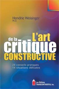L'art de la critique constructive