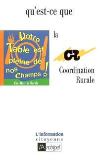Qu'est-ce que la Coordination rurale ?