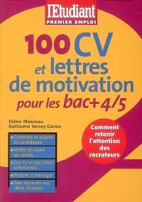100 CV et lettres de motivation pour les bac + 4-5