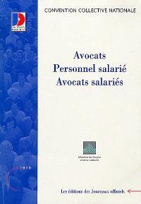 Avocats : personnel salarié, avocats salariés
