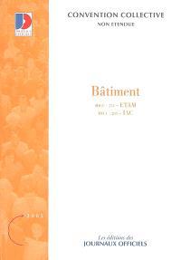 Bâtiment, ETAM (IDCC 255), IAC (IDCC 203) : conventions collectives nationales et accords nationaux