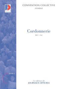 Cordonnerie, IDCC 1561 : convention collective nationale du 7 août 1989 (étendue par arrêté du 22 décembre 1989)