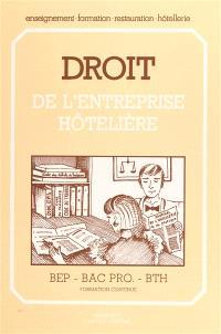 Droit de l'entreprise hôtelière