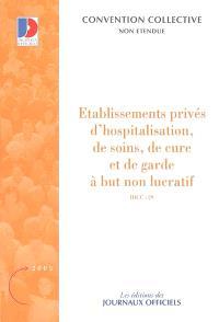 Etablissements privés d'hospitalisation, de soins, de cure et de garde à but non lucratif, IDCC 29 : convention collective nationale du 31 octobre 1951