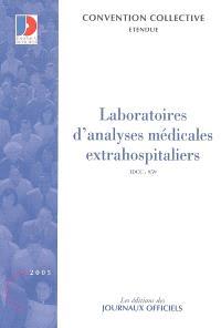 Laboratoires d'analyses médicales extrahospitaliers : convention collective nationale du 3 février 1978 étendue par arrêté du 20 novembre 1978, IDCC 959