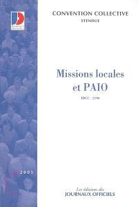 Missions locales et PAIO (IDCC 2190) : convention collective nationale du 21 février 2001 étendue par arrêté du 27 décembre 2001