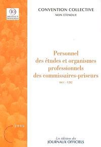 Personnel des études et organismes professionnels des commissaires-priseurs (IDCC 1282) : convention collective nationale du 8 décembre 1983